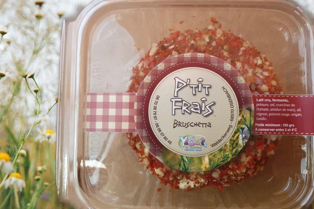 carré frais bruschetta produit laitier Les yaourts de Sandrine 68 Osenbach