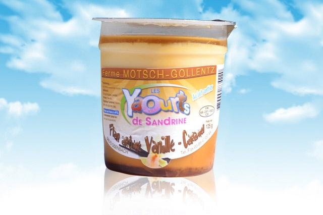 le yaourt Sandrine arôme vanille caramel 68 Osenbach
