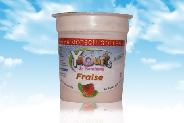 le yaourt Sandrine arôme Fraise 68 Osenbach