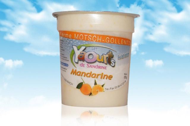 le yaourt Sandrine arôme mandarine 68 Osenbach