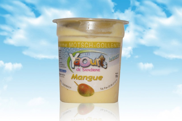 le yaourt Sandrine arôme Mangue 68 Osenbach