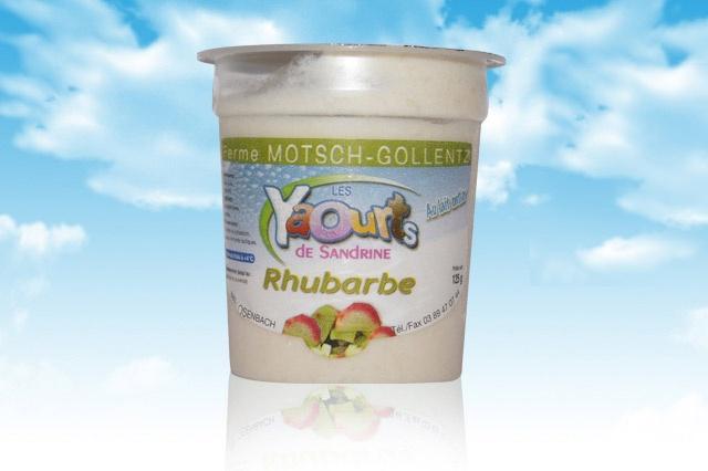 le yaourt Sandrine arôme rhubarbe 68 Osenbach