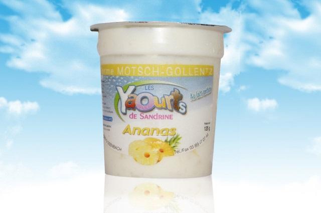 le yaourt Sandrine arôme ananas 68 Osenbach
