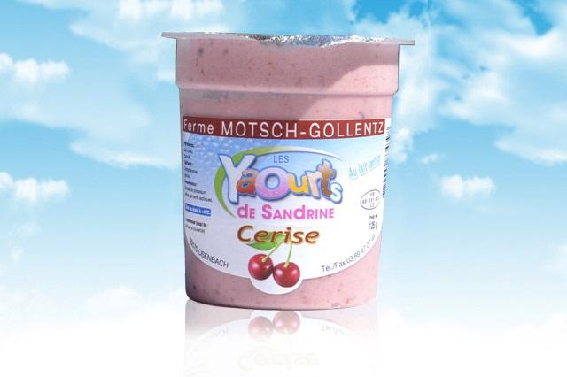 le yaourt Sandrine arôme cerise 68 Osenbach